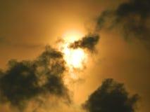Faule Sonne Stockfoto