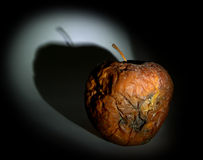 Fauler Apfel Stockbild