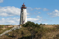 Faulkners Island Lighthouse in Connecticut is Located Within a Wildlife Reserve Stock Photography