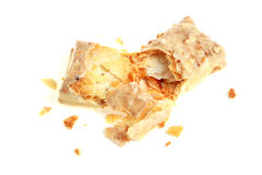Faulted Biscuit Bar. On white background royalty free stock photos