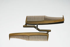 Faults at manufacturing. Too less pressure in tool at molding process during comb manufacturing Royalty Free Stock Images
