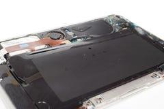 Faulty apple macbook air battery. Pavlograd, Ukraine - December 13, 2014: faulty apple macbook air battery. Dead battery Stock Photo