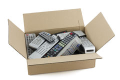 Faulty audio and video remote controls Stock Photos