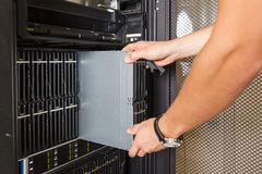 Faulty blade server Stock Image