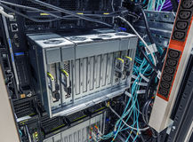Faulty blade server Stock Photo