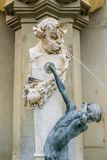 Faun mit Knabe, fountain Brunnenbuberl Stock Images