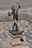 Faun Pompeii arkeologisk plats, nr Mount Vesuvius, Italien Royaltyfri Fotografi