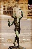 Faun, Satyr in Pompeii Stock Photo