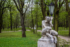 Faun statue, Warsaw Stock Images