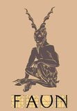 Faun with title Royalty Free Stock Images