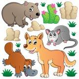 A fauna australiana dos animais selvagens ajustou 1 Fotos de Stock