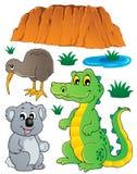 A fauna australiana dos animais selvagens ajustou 3 Fotografia de Stock