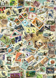 Fauna - background of postage stamps. Animals, birds, fishes - background of old used postage stamps from the various countries worldwide Royalty Free Stock Image