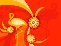 Fauna da flora do flamingo Imagens de Stock