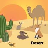 Fauna del bosque de la vida del estilo de Eco del desierto Bosque Fotos de archivo