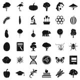 Fauna environment icons set, simple style. Fauna environment icons set. Simple set of 36 fauna environment vector icons for web isolated on white background Royalty Free Stock Photography