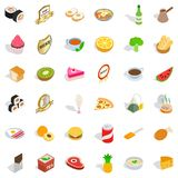 Fauna icons set, isometric style Stock Photography