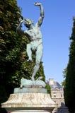 Faune Dansant雕塑在卢森堡公园 库存照片
