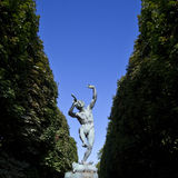 Faune Dansant Sculpture in Jardin du Luxembourg Royalty Free Stock Photography