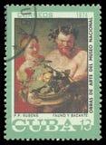 Fauno e Baco por Rubens Fotografia de Stock Royalty Free
