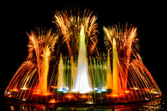 Fauntain dei fuochi d'artificio di Colourfull Immagini Stock Libere da Diritti