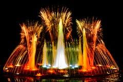 Fauntain dos fogos-de-artifício de Colourfull Imagens de Stock Royalty Free