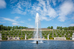 Fauntain im Garten des Sanssouci-Palastes in Postdam, Deutschland Lizenzfreie Stockfotografie