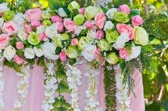 Fausse fleur dans le mariage Photo stock