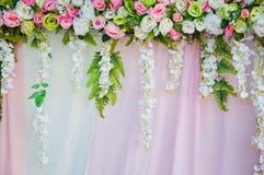 Fausse fleur dans le mariage Image stock
