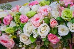 Fausse fleur dans le mariage Images stock