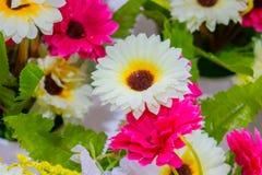 Fausse fleur de Gerbera et fond floral Photographie stock libre de droits