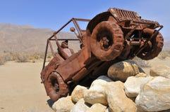 Fausse jeep outre de route au parc national d'Anza Borrego Photographie stock libre de droits