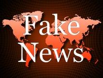 Fausse propagande d'actualités sur l'illustration de la carte 3d Photo stock