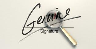 Fausse signature véritable Photo libre de droits