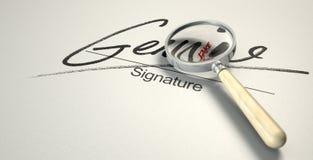 Fausse signature véritable Image libre de droits