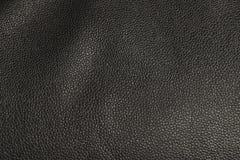 Fausse texture en cuir noire Image stock