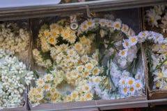 Fausses fleurs pour des buts décoratifs Photo libre de droits
