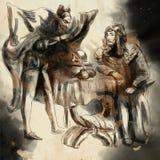 Faust μια συρμένη χέρι απεικόνιση, ελεύθερη σκιαγράφηση διανυσματική απεικόνιση