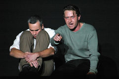 Faust. OCTOBER 7, 2005 - BERLIN: Ingo Huelsmann, Sven Lehmann at a rehearsal to the theater play Faust - der Tragoedie zweiter Teil (by Johann Wolfgang von Stock Images