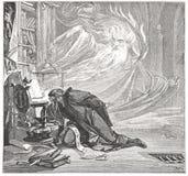 Faust talar med ande Arkivbild