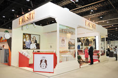 Fausti Pavilion at Abu Dhabi International Hunting and Equestrian Exhibition 2013. Fausti Pavilion at weaponry pavilion in in Abu Dhabi International Hunting and royalty free stock photo