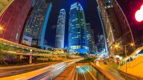 Faute de Hong Kong Night Cityscape Time banque de vidéos