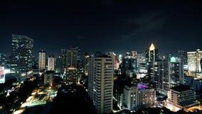 Faute de nuit de secteur d'activité de Bangkok clips vidéos