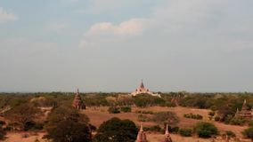 Faute hyper des temples de Bagan dans Myanmar banque de vidéos