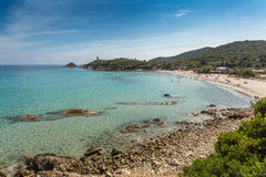Fautea beach on the east coast of Corsica Stock Image