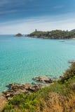 Fautea sulla costa Est della Corsica Immagine Stock
