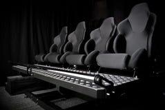 Fauteuil dans le cinéma 3d Image libre de droits