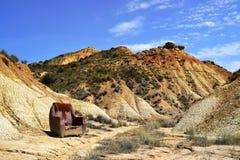 Fauteuil dans le désert sauvage Photos libres de droits