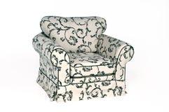 Fauteuil de sofa d'isolement sur le fond blanc images stock