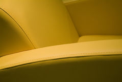 Fauteuil en cuir Photo stock